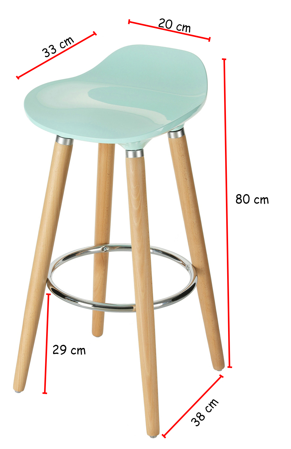 Orolay Blue Kitchen Breakfast Barstool For 2 The Living