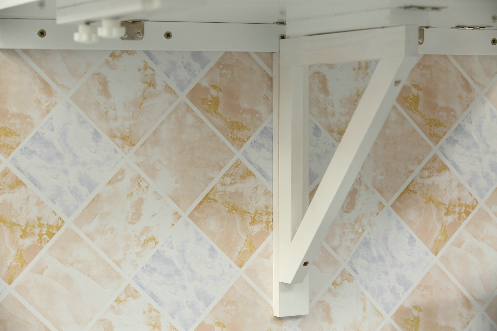 OROLAY Wall-Mounted Drop-Leaf Double Folding White Kitchen