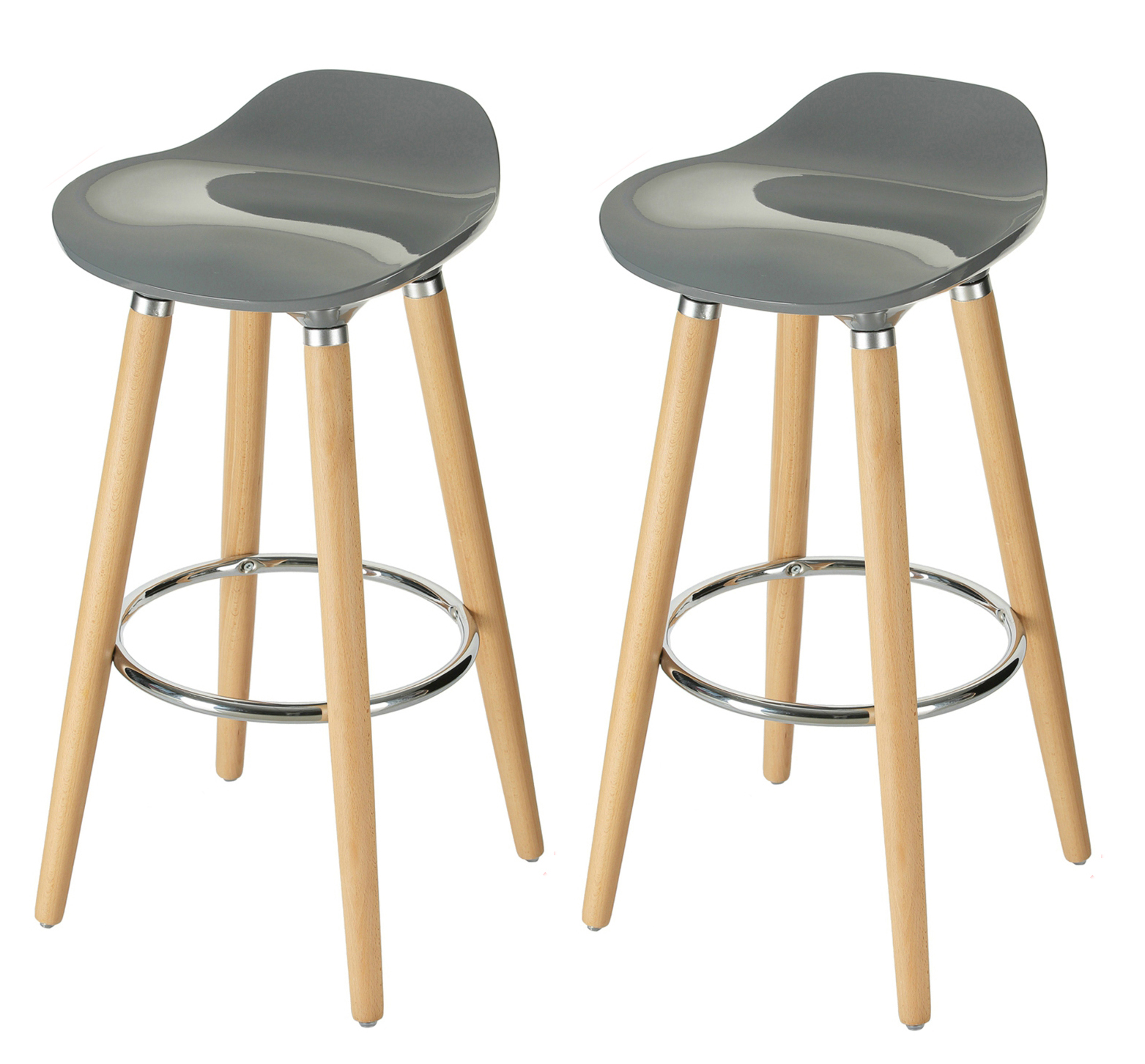 Orolay Grey Kitchen Breakfast Barstool For 2 The Living